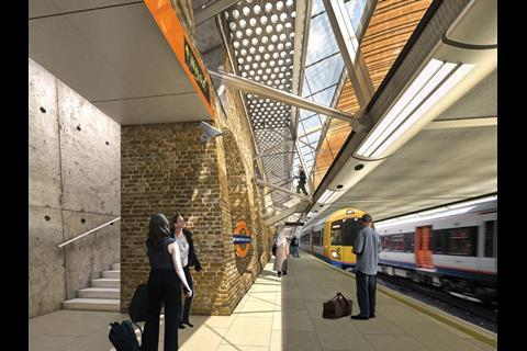 """Whitechapel Crossrail station. The coalition has said it wants """"value for money"""" from the £16bn rail scheme"""